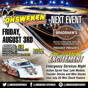 BRADSHAW FUELS PRESENTS EMERGENCY SERVICES NIGHT ON AUGUST 3